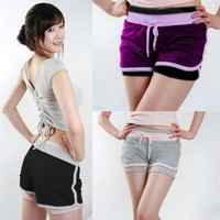 Women Girls Jersey Hot Pants Running Shorts Gym Beach Sports Yoga Workout Shorts = 1933323204