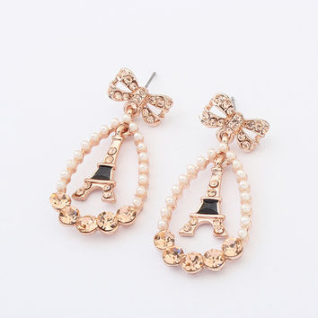 Vintage Diamonds Pearls Earrings [4919098948]