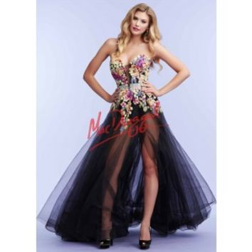 Mac Duggal 85441 Floral Hot Shorts Gown