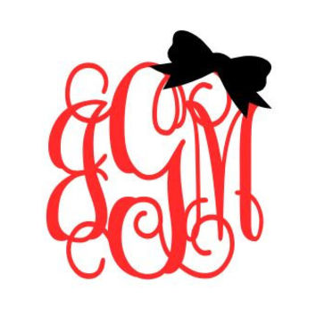 Shop Bow Car Stickers On Wanelo - Monogram decal for car
