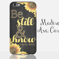 Be Still And Know Psalm 46:10 Girl Christian Bible Verse Daughter Mom Christmas Quote Christmas Gift Chalkboard Galaxy iPhone 4s 5c 6s Case