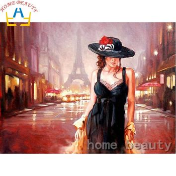 HOME BEAUTY 5d diy diamond paint kits picture of rhinestones diamond pattern embroidery mosaic painting dancer artwork AB604