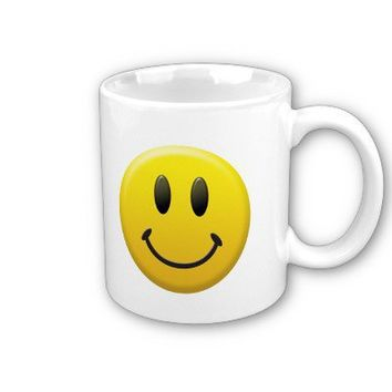 Happy Smiley Face Coffee Mugs from Zazzle.com