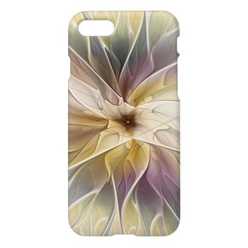 Floral Fantasy Gold Aubergine Abstract Fractal Art iPhone 7 Case