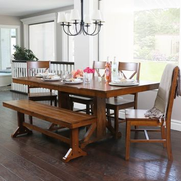 Nagen Mid-Century 5-Piece Dining Table Chair Set