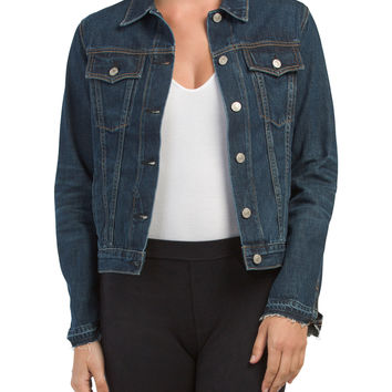 Made In Usa Cuffless Jean Jacket - Coats & Jackets - T.J.Maxx