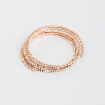 Rose Gold Pave Wrap Bracelet