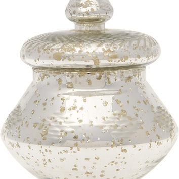 Silver Mercury Glass Apothecary Jar (urn design)