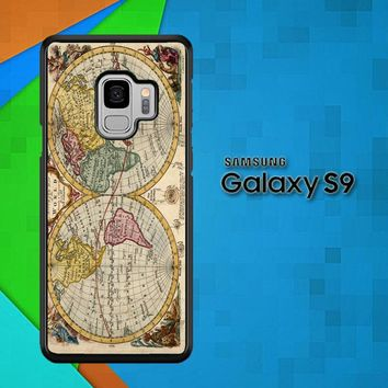 Accurate Map Of The World V0691 Samsung Galaxy S9 Case