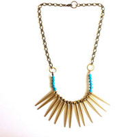 Warrior Spiked Bib Necklace