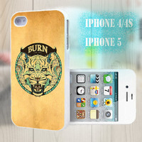 unique iphone case, i phone 4 4s 5 case,cool cute iphone4 iphone4s 5 case,stylish plastic rubber cases cover, yellow  tiger Emblem p979