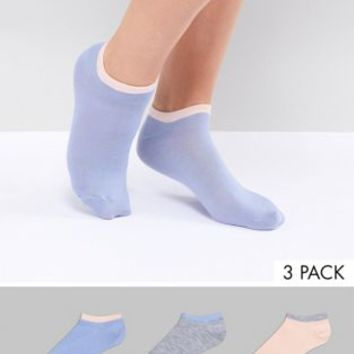 Fruitcake 3 Pack Ankle Socks With Contrast Banding at asos.com