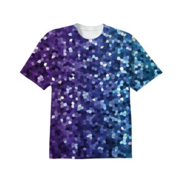 T-SHIRT Mosaic Sparkley Texture G21 created by Medusa GraphicArt | Print All Over Me
