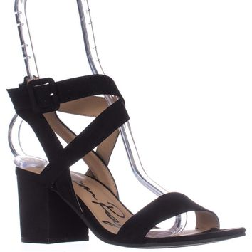 AR35 Caelie Ankle Strap Sandals, Black, 6.5 US