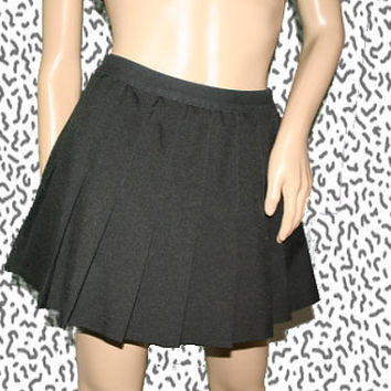 vintage black pleated tennis skirt