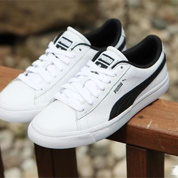 Best Online Sale BTS X Puma Court Star White Black Shoes Casual Shoes 366202-01