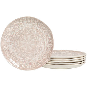 Tabletops Gallery® Castleware Set of 6 Salad Plates