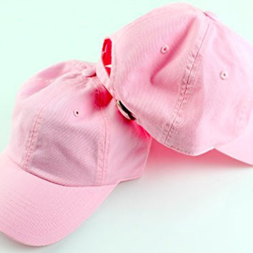American Needle Canvas Washed Slouch Baseball Cap (Light Pink)