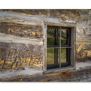Log Cabin Wall Art - Rustic Wall Decor - Cabin Wall Decor - Rustic Wall Art - Photography Print - Cabin Picture - Rustic Photo - Log Cabin