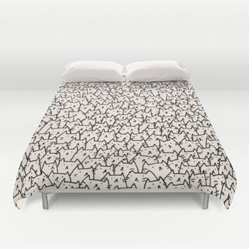 A Lot of Cats Duvet Cover by Kitten Rain