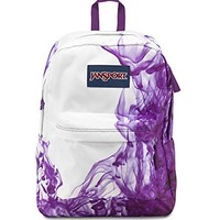 JanSport Superbreak Girly School Backpack B1020: Multi Purple Drip Dye