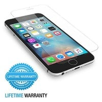 iPhone 6S Screen Protector, Maxboost® Tempered Glass Screen Protector For iPhone 6 6S [3D Touch Compatible] 0.2mm Screen Protection Case Fit 99% Touch Accurate[Lifetime Warranty]- Clear