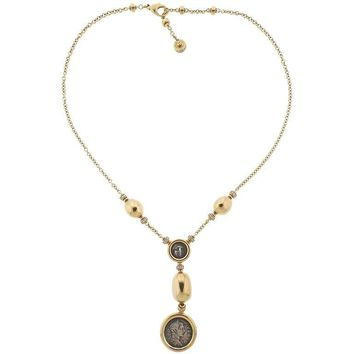 Bulgari Monete Ancient Coin Diamond Gold Necklace
