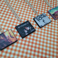 My Chemical Romance album necklaces made from polymer clay