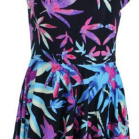 Women's Purple Weed Leaf Dress