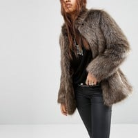 ASOS Jacket in Vintage Faux Fur