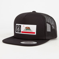 Volcom California Cheese Mens Trucker Hat Black One Size For Men 26833410001