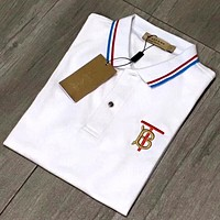 Burberry 2020 New Three-dimensional Embroidered Logo Casual Comfortable Wild Short Sleeve Lapel Polo Shirt