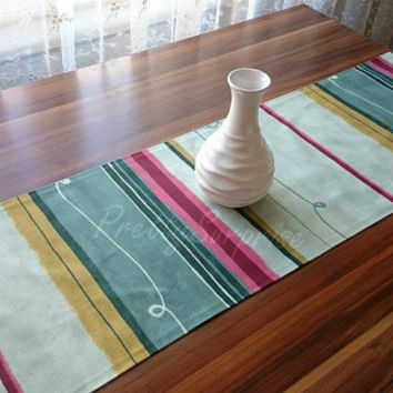 Multicolor Table Runner, Decorative Table Runner, Modern Table Cover,  Striped