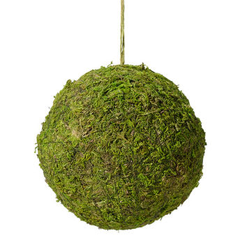 Green Moss Hanging Ball for Rustic Wedding