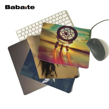 Babaite Pattern Comfort Non-Skid Pad for Beauty Dream Catcher Vintage Unique Rubber Gamer Gaming Mouse Pad Computer Mouse Mat