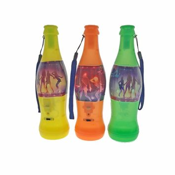 15pcs/lot Lighting Beer Bottle Whistle LED Flashing World Cup Whistle Party Cheer Supplies Special Glowing Plastic noise maker