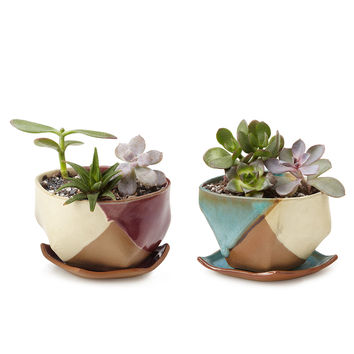 Mauna Planter and Dish | cermanic planters