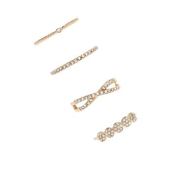 Stackable Rhinestone Ring Set