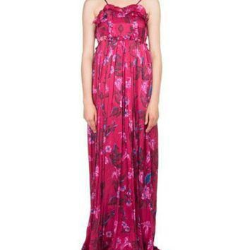 ONETOW balenciaga ruffled floral print summer gown and matching items 2