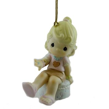 Precious Moments YOU'RE A GEM OF A FRIEND Porcelain Ornament Christmas 4024107