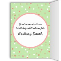 Confetti Cake • Green Buttercream Frosting Greeting Cards