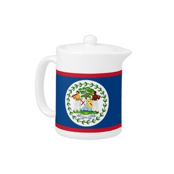Belize Flag Teapot
