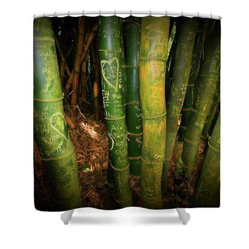 Love And Bamboo  - Shower Curtain