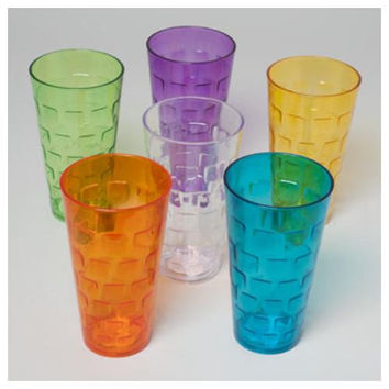 Tumblers Glass-Look 6 Colors 24Oz