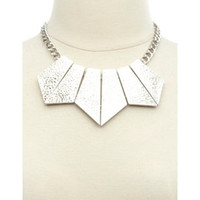 HAMMERED GEOMETRIC COLLAR NECKLACE