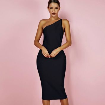 Women's Sexy One Shoulder Bandage Dress -HOTT!!!
