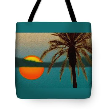 "Paradise Sun Tote Bag for Sale by Ben and Raisa Gertsberg (18"" x 18"")"