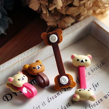 3pcs Cute Animal Cartoon Winder Cable Holder [7278763335]