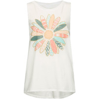 O'neill Daisying Girls Tank White  In Sizes
