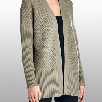 Cashmere Open Front Cardigan